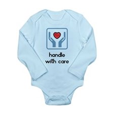 Long Sleeve Infant Bodysuit, Handle with care Boy