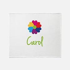 Carol Valentine Flower Throw Blanket