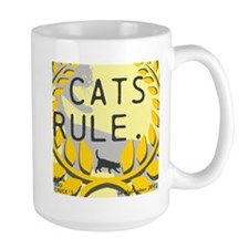 CRESTED CATS RULE. Mug