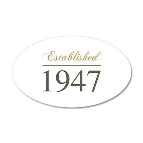 Established 1947 22x14 Oval Wall Peel