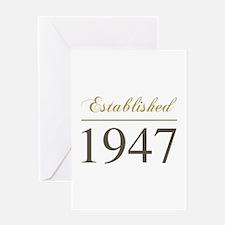 Established 1947 Greeting Card