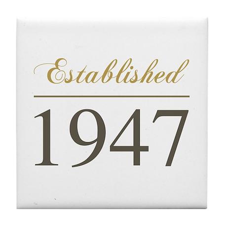 Established 1947 Tile Coaster