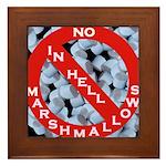 No Marshmallows Framed Tile