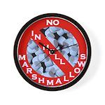 No Marshmallows Wall Clock