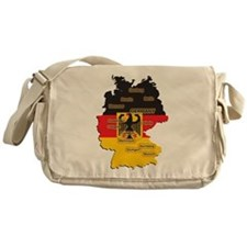 Germany Map Messenger Bag