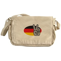 Peace In Germany Messenger Bag