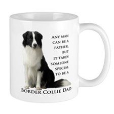 Border Collie Dad Small Mugs