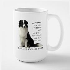 Border Collie Dad Ceramic Mugs