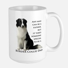 Border Collie Dad Large Mug
