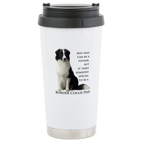 Border Collie Dad Stainless Steel Travel Mug