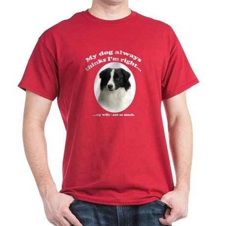 Border Collie v Wife Dark T-Shirt