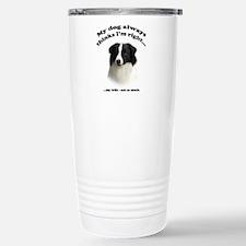 Border Collie v Wife Travel Mug