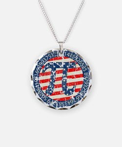 American Pi, Pie Distressed Necklace