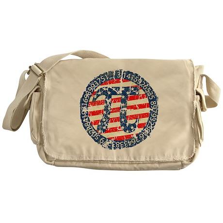 American Pi, Pie Distressed Messenger Bag