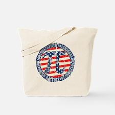 American Pi, Pie Distressed Tote Bag