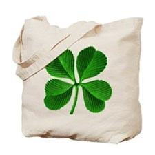 Lucky Charm 4-Leaf Clover Irish Tote Bag