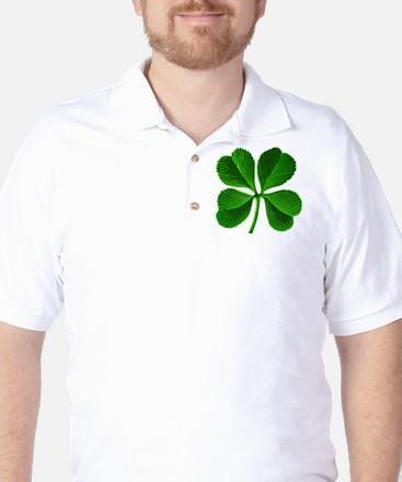 Lucky Charm 4-Leaf Clover Irish Golf Shirt