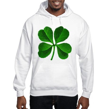 Lucky Charm 4-Leaf Clover Irish Hooded Sweatshirt