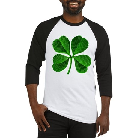 Lucky Charm 4-Leaf Clover Irish Baseball Jersey