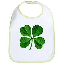 Lucky Charm 4-Leaf Clover Irish Bib