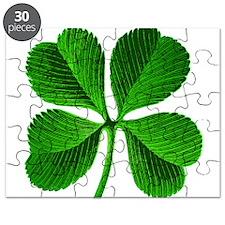 Lucky Charm 4-Leaf Clover Irish Puzzle