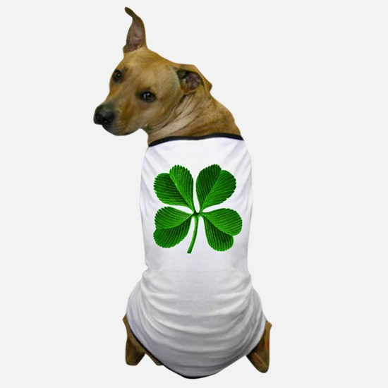 Lucky Charm 4-Leaf Clover Irish Dog T-Shirt