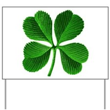 Lucky Charm 4-Leaf Clover Irish Yard Sign