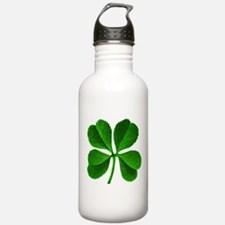 Lucky Charm 4-Leaf Clover Irish Water Bottle