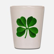 Lucky Charm 4-Leaf Clover Irish Shot Glass