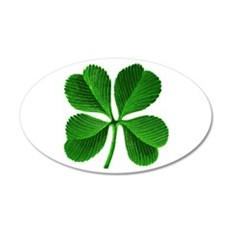 Lucky Charm 4-Leaf Clover Irish 22x14 Oval Wall Pe