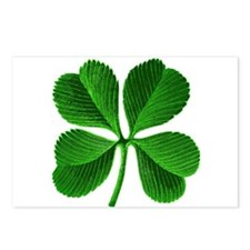 Lucky Charm 4-Leaf Clover Irish Postcards (Package