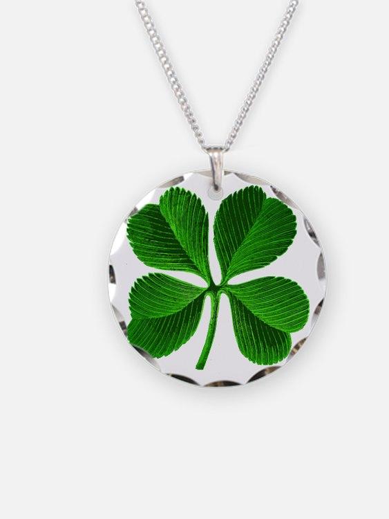 Lucky Charm 4-Leaf Clover Irish Necklace