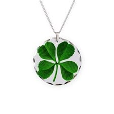 Lucky Charm 4-Leaf Clover Irish Necklace Circle Ch