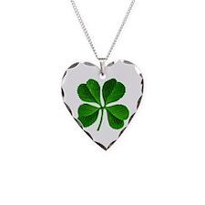 Lucky Charm 4-Leaf Clover Irish Necklace Heart Cha