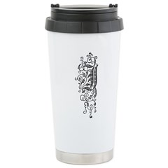 Letter J Stainless Steel Travel Mug