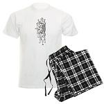 Letter J Men's Light Pajamas
