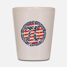 American Pi, Pie Distressed Shot Glass