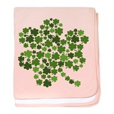 Lucky St. Patty's Day Shamrock baby blanket