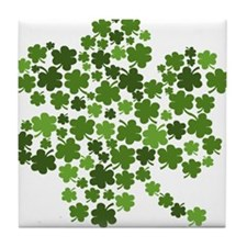 Lucky St. Patty's Day Shamrock Tile Coaster