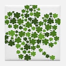 Lucky St. Patty's Day Shamrock Tile Coaster