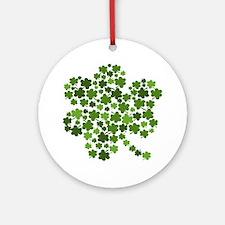 Lucky St. Patty's Day Shamrock Ornament (Round)