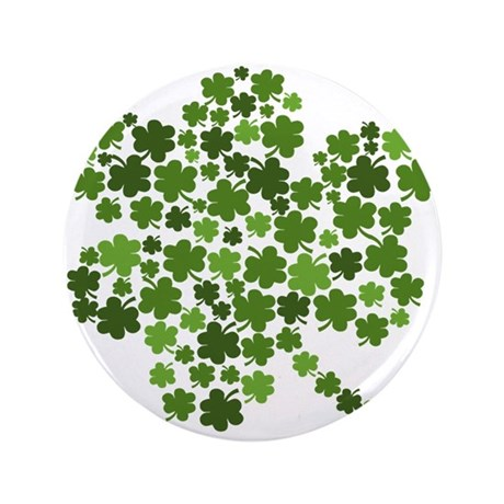 "Lucky St. Patty's Day Shamrock 3.5"" Button (100 pa"