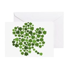 Lucky St. Patty's Day Shamrock Greeting Card