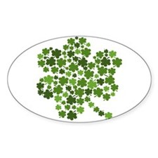 Lucky St. Patty's Day Shamrock Decal