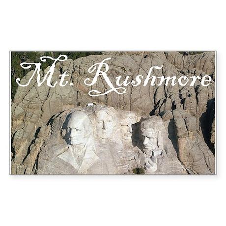 MOUNT RUSHMORE Rectangle Sticker
