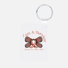 Uterine Cancer I 'm A Survivor Keychains