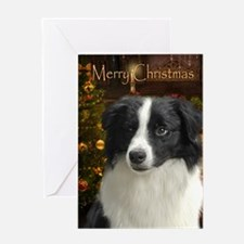 Holiday Border Collie Xmas Card