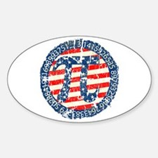 American Pi, Pie Distressed Decal