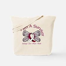 Throat Cancer I'm A Survivor Tote Bag