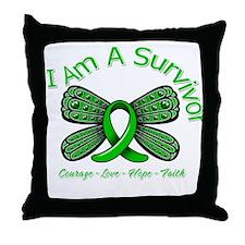TBI I'm A Survivor Throw Pillow